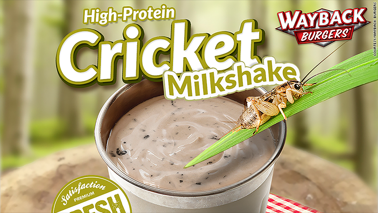 This milkshake is made with 96 crickets