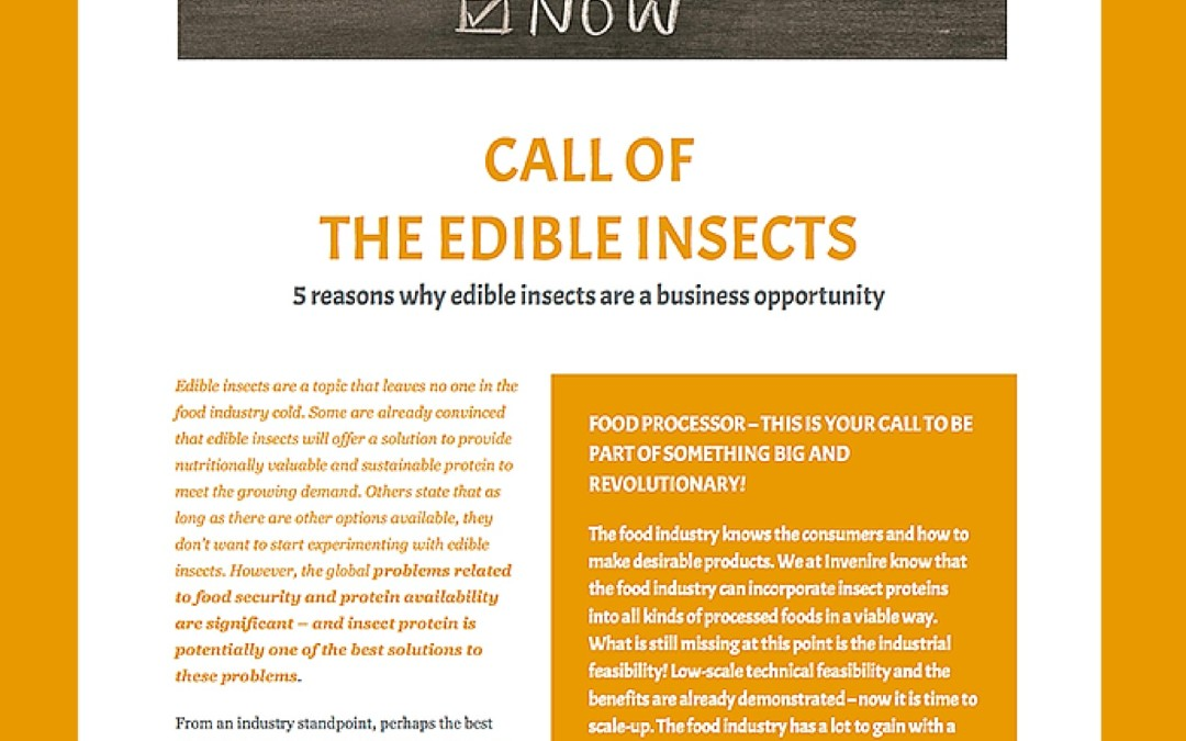 CALL OF THE EDIBLE INSECTS